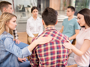 group therapy session for eating disorders